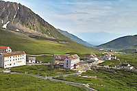 Bunk houses, and a kitchen/dining hall are among the buildings at Independence Mine State Historical Park, in the Hatcher Pass area about 50 miles north of Anchorage, Alaska.