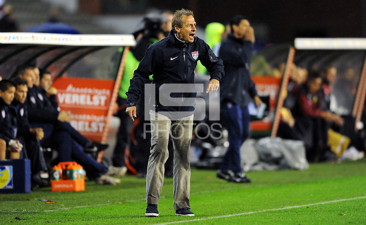Jurgen Klinsmann, coach of team USA, during the friendly match Belgium against USA at King Baudoin stadium in Brussel, Belgium on September 06th, 2011.