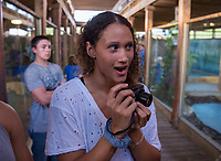 Orlando, FL - February 20, 2018: Members of the USWNT visited Gatorland while in Orlando, Florida.
