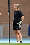 25 October 2015: Clemson assistant coach Siri Mullinix. The University of North Carolina Tar Heels hosted the Clemson University Tigers at Fetzer Field in Chapel Hill, NC in a 2015 NCAA Division I Women's Soccer game. UNC won the game 1-0.