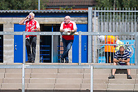 Fleetwood fans ahead of the Sky Bet League 1 match between Bristol Rovers and Fleetwood Town at the Memorial Stadium, Bristol, England on 26 August 2017. Photo by Mark  Hawkins.