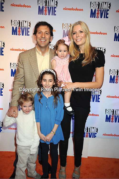"""Real Housewives of New York City Aviva Drescher and family, husband Reed, son Hudson, baby Sienna and Veronica attend The movie premiere of """" Big Time Movie"""" starring ..Big Time Rush of Nickelodeon on March 8, 2012 at 583 Park Avenue in New York City."""