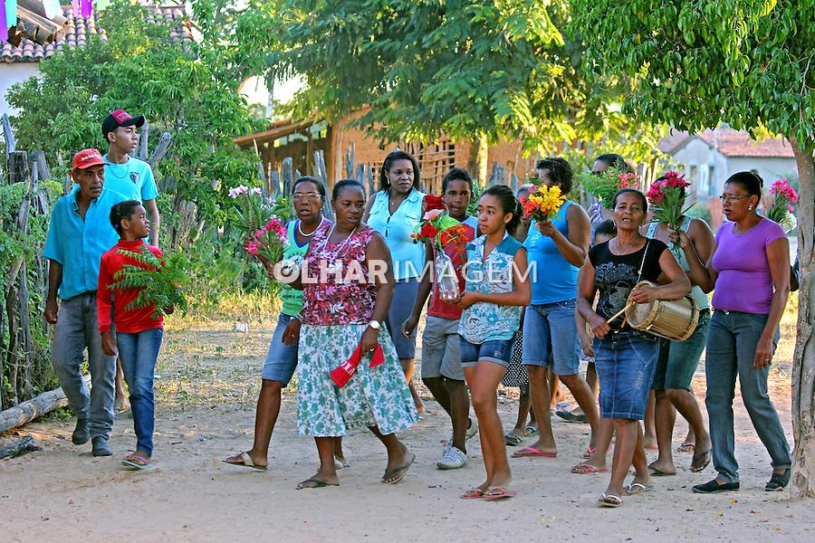 Festa de Sao Sebastiao no Quilombo Mangal e Barro Vermelho, municipio Sitio do Mato. Bahia. 2015. Foto de Lineu Kohatsu.