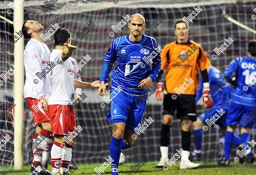2011-02-05 / Voetbal / seizoen 2010-2011 / R. Antwerp FC - Tienen / Karel de Smet scoorde de eerredder voor Tienen..Foto: mpics