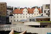Queensbury House attached to the new Scottish Parliament building at Holyrood, Edinburgh (designed by Spanish architect, Enric Miralles).