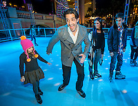 LAS VEGAS, NV - November 20 : Gilles Marini with his wife Carole, daughter Juiliana, and son Georges pictured as The Venetian and The Palazzo kick off 2nd annual Winter in Venice on November 20, 2012 at The Venetian in Las Vegas, Nevada.  Credit: Kabik/ Starlitepics / MediaPunch Inc.
