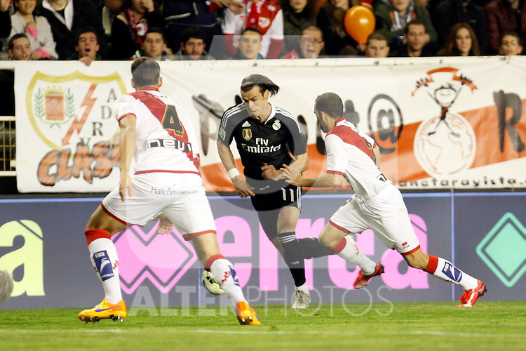 Gareth Bale of Real Madrid during La Liga match between Rayo Vallecano and Real Madrid at Vallecas Stadium in Madrid, Spain. April 08, 2015. (ALTERPHOTOS/Caro Marin)