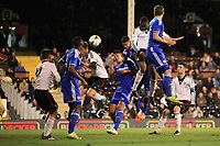 Moussa Dembele scores Fulham's opening goal with a fine header