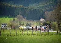Liege-Bastogne-Liege 2012.98th edition..leaders up the Cote de Wanne