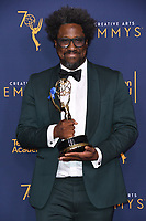 09 September 2018 - Los Angeles, California - W. Kamau Bell. 2018 Creative Arts Emmy Awards - Press Room held at Microsoft Theater. <br /> CAP/ADM/BT<br /> &copy;BT/ADM/Capital Pictures