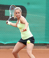 12.04.2012 Barcelona, Spain. WTA Barcelona Ladies Open. Picture show Klara Zakopalova (CZE) at Centre municipal de tennis Vall d'Hebron