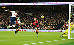 Tottenham's Moussa Sissoko scores to make it 3-0 during the Premier League match at the Tottenham Hotspur Stadium, London. Picture date: 30th November 2019. Picture credit should read: Paul Terry/Sportimage