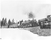D&amp;RGW #483 is the pusher on a freight that has stopped at Cumbres to water both locos.  Highway 17 trestle in photo.<br /> D&amp;RGW  Cumbres Pass, CO