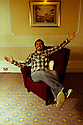 "09.11.11. Harrogate, UK. ""Sitting Room"" comedy club holds its regular monthly gig at the St George Hotel, Harrogate. the line up is: Tom Taylor (MC), Simon Lipson, Bryan Lacey and Felix Dexter. Picture shows Bryan Lacey. Mandatory credit: Jane Hobson."