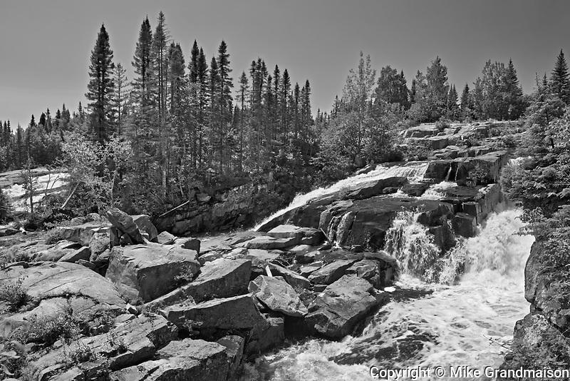 Chutes de la rivière Papinachois<br /> North Shore of St. Lawrence. Côtes-Nord.,  Manicouagan, Quebec, Canada