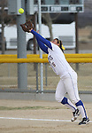 Western Nevada's Ali-Marie Lostra catches a popfly in the wind during a college softball game against College of Southern Idaho in Carson City, Nev., on Friday, March 16, 2012..Photo by Cathleen Allison