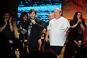 Tenacious D - aka Jack Black and Kyle Gass - receive the Comeback Of The Year Award at the Revolver Golden Gods Awards presented by Epiphone held at Club Nokia in Los Angeles, CA USA - May 2, 2013. Photo credit: Kevin Estrada / IconicPix
