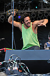 Sameer Gadhia of Young the Giant performs during the Hangout Music Fest in Gulf Shores, Alabama on May 20, 2012.