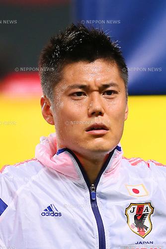 Eiji Kawashima (JPN), <br /> SEPTEMBER 5, 2014 - Football / Soccer : <br /> KIRIN Challenge Cup 2014 <br /> match between Japan - Uruguay <br /> at Sapporo Dome, Hokkaido, Japan. <br />  (Photo by Yohei Osada/AFLO SPORT) [1156]