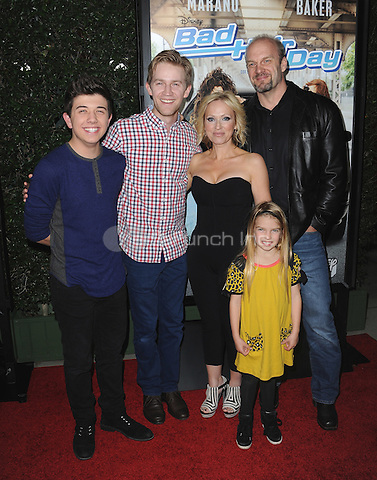"BURBANK, CA - FEBRUARY 10:  Bradley Steven Perry, Mia Talerico, Jason Dolley, Leigh-Allyn Baker and Eric Allan Kramer at the screening of the Disney Channel original movie ""Bad Hair Day"" at The Walt Disney Studios - Frank G. Wells Theater on February 10, 2015 in Burbank, California. Credit: PGSK/MediaPunch"