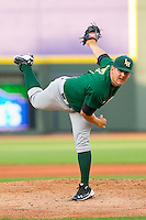 Starting pitcher Cory Rasmus #17 of the Lynchburg Hillcats follows through on his delivery against the Winston-Salem Dash at BB&T Ballpark on May 7, 2011 in Winston-Salem, North Carolina.   Photo by Brian Westerholt / Four Seam Images