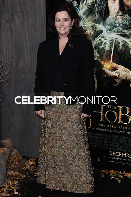 "HOLLYWOOD, CA - DECEMBER 02: Philippa Boyens arriving at the Los Angeles Premiere Of Warner Bros' ""The Hobbit: The Desolation Of Smaug"" held at Dolby Theatre on December 2, 2013 in Hollywood, California. (Photo by Xavier Collin/Celebrity Monitor)"