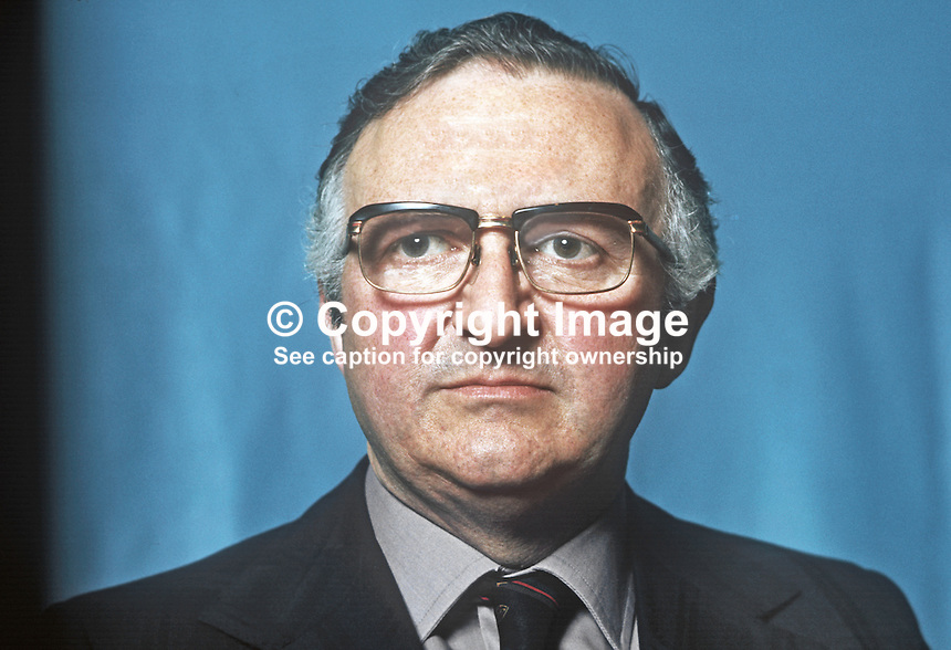 Basil Glass, Alliance Party of N Ireland, APNI, candidate, South Belfast, 1975 N Ireland Convention election. 197505000425.<br />