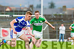 Tommy Walsh Kerins O'Rahillys and Legions Danny Sheehan Legion during their County Championship quarter final in Fitzgerald Stadium on Saturday