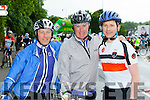 Pumped up at the start of the Ring of Kerry cycle in Killarney on Saturday morning were Donnacha Galvin, Fintan and Conor Lawlor Killarney