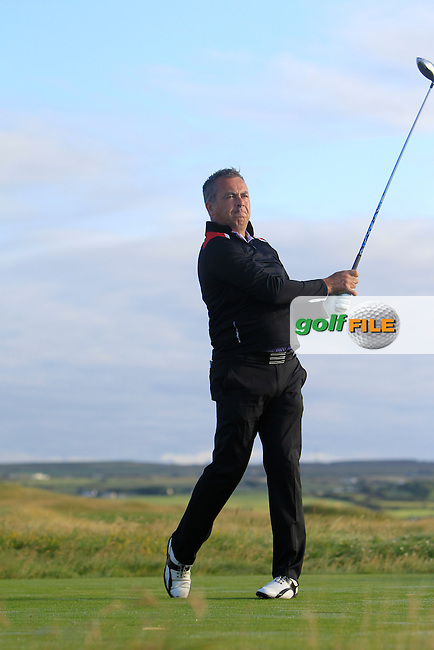 Pat Murray (Limerick) on the 2nd tee during Matchplay Round 1 of the South of Ireland Amateur Open Championship at LaHinch Golf Club on Friday 24th July 2015.<br /> Picture:  Golffile | Thos Caffrey