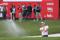 Ian Poulter (ENG) playing out of the green side bunker on the 9th during the 1st round at the WGC HSBC Champions 2018, Sheshan Golf Club, Shanghai, China. 25/10/2018.<br /> Picture Fran Caffrey / Golffile.ie<br /> <br /> All photo usage must carry mandatory copyright credit (&copy; Golffile | Fran Caffrey)