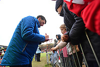 Lincoln City manager Danny Cowley signs an autograph for a fan<br /> <br /> Photographer Chris Vaughan/CameraSport<br /> <br /> The EFL Sky Bet League Two - Lincoln City v Notts County - Saturday 13th January 2018 - Sincil Bank - Lincoln<br /> <br /> World Copyright &copy; 2018 CameraSport. All rights reserved. 43 Linden Ave. Countesthorpe. Leicester. England. LE8 5PG - Tel: +44 (0) 116 277 4147 - admin@camerasport.com - www.camerasport.com