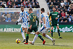 CD Leganes's Dimitrios Siovas and Real Betis Balompie's Giovani Lo Celso during La Liga match between CD Leganes and Real Betis Balompie at Butarque Stadium in Madrid, Spain. February 10, 2019. (ALTERPHOTOS/A. Perez Meca)