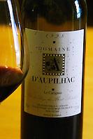 Le Carignan 1998 Vin de Pays du Mont Baudile. Domaine d'Aupilhac. Montpeyroux. Languedoc. France. Europe. Bottle.