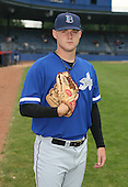 July 14th, 2007:  Jake Smith of the Aberdeen Ironbirds, Class-A Short-Season affiliate of the Baltimore Orioles, poses for a photo before a game vs the Jamestown Jammers in New York-Penn League action.  Photo Copyright Mike Janes Photography 2007.