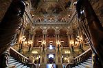 The Grand Staircase of Opera Garnier. Palais Garnier. City of Paris. Paris