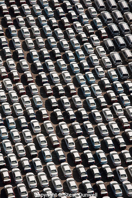 new car unloading area, Aerial views, Elizabeth, NJ cargo terminal near Newark
