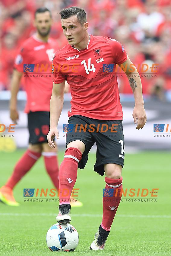 \Lens 11-06-2016 Stade Bollaert-Delelis Football  - Euro 2016 / Albania - Switzerland / foto Matteo Gribaudi/Image Sport/Insidefoto<br /> nella foto: Taulant Xhaka