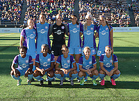 Seattle, WA - Saturday July 23, 2016: Orlando Pride Starting XI during a regular season National Women's Soccer League (NWSL) match between the Seattle Reign FC and the Orlando Pride at Memorial Stadium.