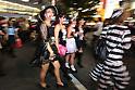 People in costumes walk through Shibuya scramble crossing on halloween in Tokyo, Japan October 31, 2014.  (Photo by Yuriko Nakao /AFLO)