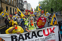 Tens of thousands of trade unionists attend a national demonstration demanding a new deal for workers and an end to austerity call by the TUC. 12-5-18