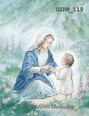 Randy, EASTER RELIGIOUS, OSTERN RELIGIÖS, PASCUA RELIGIOSA, paintings+++++Mary-Infant-Jesus-watercolor,USRW119,#ER#