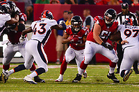 Ohio, Canton - August 1, 2019: Atlanta Falcons running back Ito Smith #25 runs the ball during a pre-season game against the Denver Broncos at the Tom Benson stadium in Canton, Ohio August 1, 2019. This game marks start of the 100th season of the NFL. (Photo by Don Baxter/Media Images International)