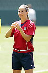 24 July 2005: U.S. defender Meather Mitts, pregame. The United States defeated Iceland 3-0 at the Home Depot Center in Carson, California in a Women's International Friendly soccer match.