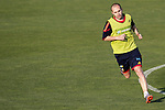 MADRID (24/05/09).- The Spanish Soccer national team has officially begun their hunt for the championship, arriving in the Madrid municipality of Las Rozas to begin preparing for South Africa World Cup.  Andres Iniesta...PHOTO: Cesar Cebolla / ALFAQUI