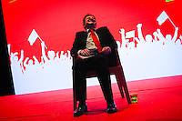 Meeting de Jean-Luc Mélenchon, candidat du Front de Gauche à la présidentielle 2012, au Grand Palais de Lille. Mercredi 28 mars 2012 - 2012©Jean-Claude Coutausse / french-politics pour Le Monde