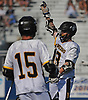 Thomas vonBargen #13 of Wantagh reacts after scoring a goal in the Nassau County varsity boys lacrosse Class C semifinals against Bethpage at Shuart Stadium, located on the campus Hofstra University in Hempstead, on Friday, May 25, 2018. He scored four goals in the second half to lead Wantagh to a 12-8 win.