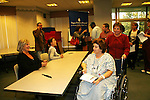 Guiding Light actors - Kim Zimmer and Gina Tognoni visit Magee-Women's Hospital of University of Pittsburgh Medical Center on October 23, 2009 to meet with nurses and patients as the other GL castmembers Robert Newman, Bradley Cole, Jordan Clarke, Frank Dicopoulos, Jeff Branson, Daniel Cosgrove, Tom Pelphrey, Grant Aleksander, Ron Raines come to see fans at the Hyatt Regency in Pittsburgh, PA. during the weekend of October 24 and 25, 2009. (Photo by Sue Coflin/Max Photos)
