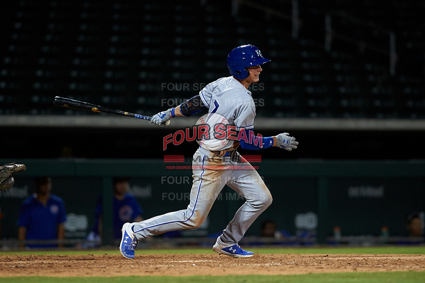 AZL Royals Bobby Witt, Jr. (17) at bat during his professional debut in an Arizona League game against the AZL Cubs 1 on June 30, 2019 at Sloan Park in Mesa, Arizona. AZL Royals defeated the AZL Cubs 1 9-5. (Zachary Lucy / Four Seam Images)