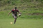 Papakura  firstfive M. Campbell kicks the penalty that won the game. Counties Manukau Premier 2 Championship game between Bombay and Papakura played at Bombay on May 13th, 2006. Papakura won 8 - 7.